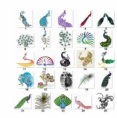 30 Square Stickers Envelope Seals Favor Tags Peacocks Buy 3 get 1 free (p2)