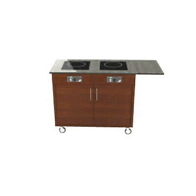 "Lakeside 79851 52-1/2""Wx20""Dx34""H Induction Cart w/ (2) 2600 Watt Burners"