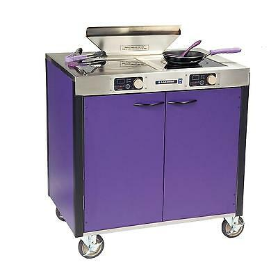 "Lakeside 2075A 34""x22""x40-1/2"" Creation Express Station Mobile Cooking Cart"