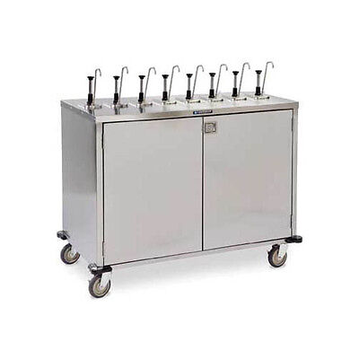 "Lakeside 70201 50-1/4""Wx27-1/2""Dx48-1/2""H EZ SERVE 8 Pump Condiment Cart"