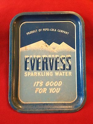 Evervess Sparkling Water Metal Serving Tray- Pepsi-Cola Company - Vintage