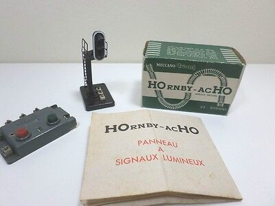 French Hornby acHO Automatic Signal (Boxed) + Switch