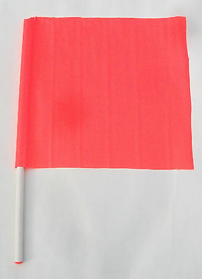 "Flag Caution Safety Construction Traffic Boat Skier Down, 18"" X 18"", 27"" Handle"