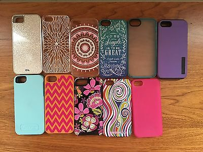 Lot of 11 covers / cases compatible w/ iPhone 5 / 5s Vera Bradley Otterbox