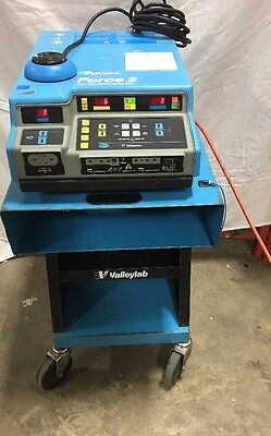 Valley Lab Force 2 Electrosurgical Unit With Bipolar Footswith And Cart