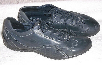 ECCO.Size 40 Uk 6 - 61/2.Blue leather lace comfort shoes.Work - casual LOOK