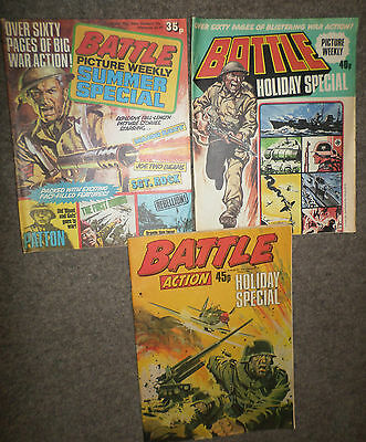Battle Picture Weekly Holiday Specials from 1978, 1979 & 1981,