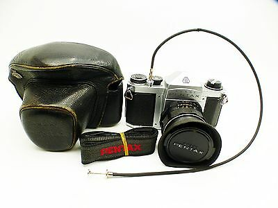 Asahi Pentax S1a 35mm Film Camera with lens, case, ++, good