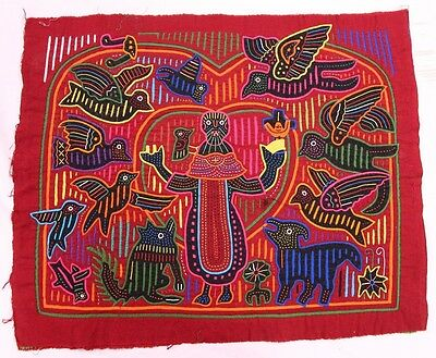 Vintage 1970s-1980s Four Layers Kuna Indian Mola from San Blas of Panama