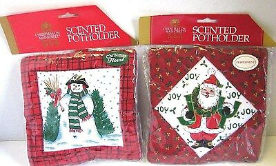 Scented Christmas Potholder 2 Scented Pot holders New In Package