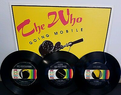 THE WHO Going Mobile LP Unofficial Release + 3 45rpm DECCA My Generation EX+/NM-