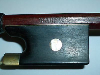 A Fine Antique Pernambuco Violin Bow marked BAUSCH