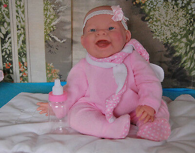 """Liferlike Boutique Berenguer-Real Baby Vinyl Girl--Anatomically Correct 15"""" Doll"""