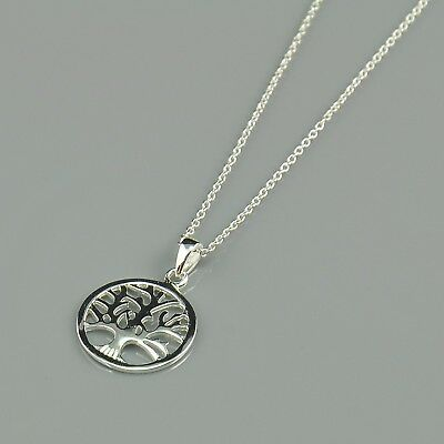 Tree of Life Pendant Sterling Silver 925 Silver Necklace 18'' with a Gift Box