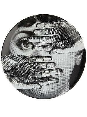 Fornasetti LINA Face With Hands In Front of Face PLATE Piero Fornasetti NIB
