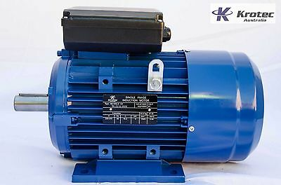 Electric motor single phase 240v 3kw 4hp 2900 rpm