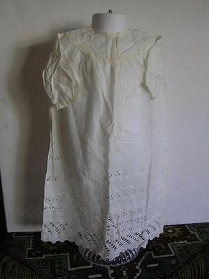 Victorian Long Baby Dress lot of 3 White Cotton Christening Dresses Germany