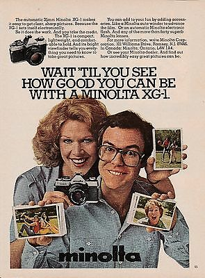 Vintage 1980 Minolta XG-1 camera print ad   Great to frame!