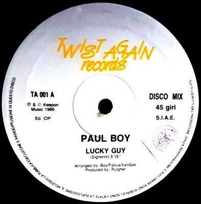 "12"" - Paul Boy - Lucky Guy (Italo-Disco) ORIGIN. ITALY PRESS. 1988 LISTEN*OYELO"
