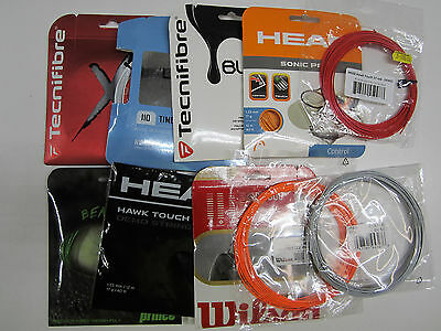 New Lot Of 10 Sets Of Tennis Racquets Strings (Polyester, Synthetic Gut, Multi)