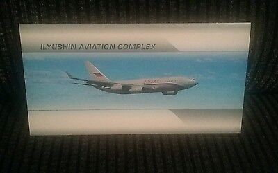 Ilyushin Aircraft Russia Airliner Manufacturers Brochure * Rare *