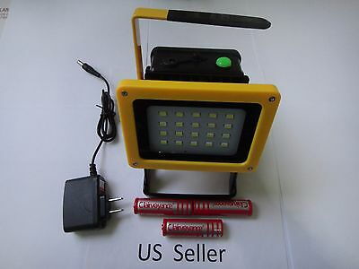 Rechargeable cordless outdoor 30W 20 LED 2400 LM work light flood lamp w/18650