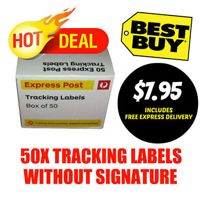 50x Australia post Express Tracking labels ---- FREE EXPRESS DELIVERY BEST VALUE