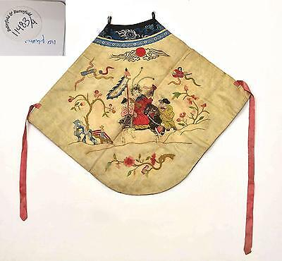 Early 20C Chinese Silk Embroidery Textile Apron Underwear Underclothes Bonhams