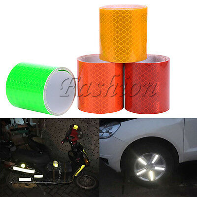 1M Colorful Silver White Reflective Safety Warning Conspicuity Tape Film Sticker