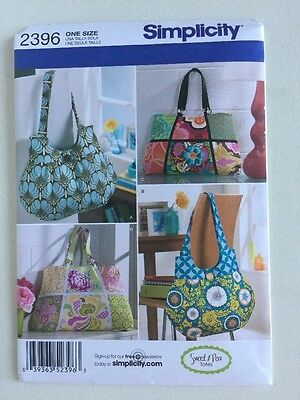 Simplicity Sewing Pattern 2396 Purses Handbags Totes Bags by Sweet Pea