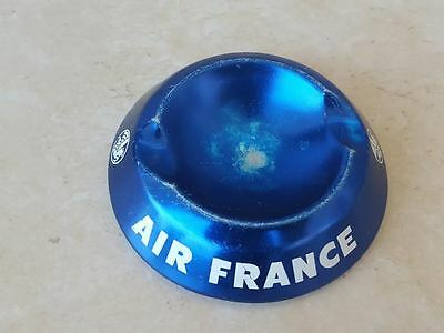 vintage Air France metal  Aluminum Ashtray blue airlines french