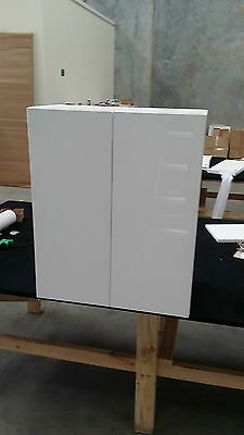 kitchen top cabinets 600mm overheads assembled with 2 pak glossy door