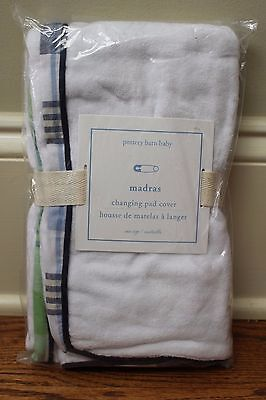 NWT Pottery Barn Kids Madras changing pad cover