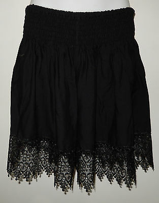 1C40020 LADIES BLACK SHIRRED WAIST SHORTS  plus size 18  20  22 $14 NEW WITH TAG