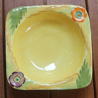 Lovely square Carlton Ware bowl in Anemone pattern - excellent condition