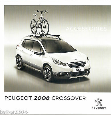 Peugeot 2008 Crossover Accessories Brochure~ Excellent Condition ~ Free Uk P&p