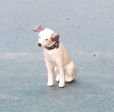 FINE OLD Hand Painted Cast Lead Figure of Little Nipper RCA Dog Must See this!