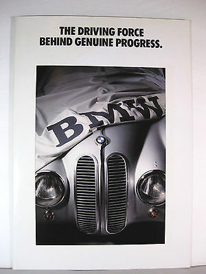 BMW 1990/91 850i The Driving Force Behind Genuine Progress Booklet Color History