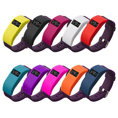 UK 10pcs Silicone Colorful Replacement Dust Cover for Fitbit Charge HR