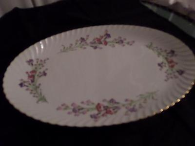 Royal Bayreuth...Germany..US Zone....WEST WIND....1946-1949...Oval Platter..lg.