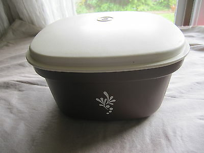 Vintage Tupperware Square Steamer Strainer cooker Brown & Cream Camping Picnic