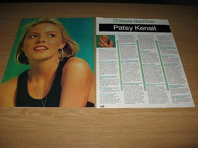 PATSY KENSIT - 2 page magazine clipping 1989