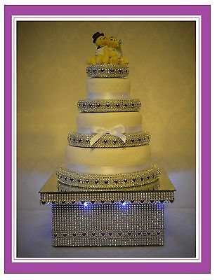 Led Light Up Wedding Cake Stand & Separators 2 3 4 5 6 Tier Fit Asda / M&s Cakes