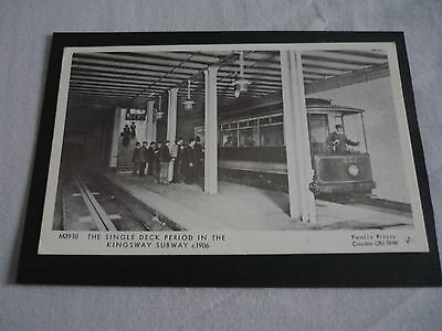 Pamlin Prints M3910, THE SINGLE DECK PERIOD IN THE KINGSWAY SUBWAY c1906