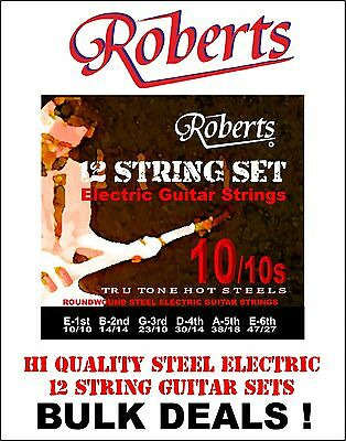 12 STRING GUITAR STRINGS (FOR ELECTRIC 12 STRING GUITAR) 5 sets/packs of Strings