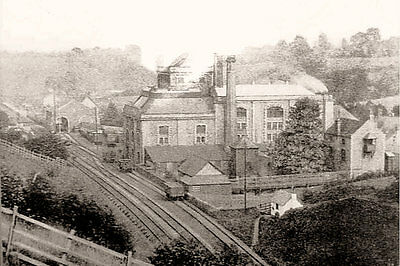 PHOTO TAKEN FROM A 1920's IMAGE OF ARNOLD  PERRETT BREWERY WICKWAR GLOUCS