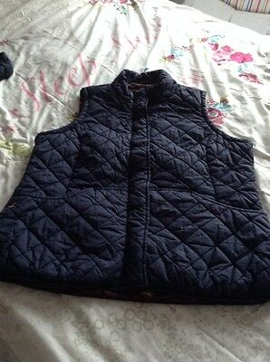 Joules Ladies Size 20 Navy Padded Gilet