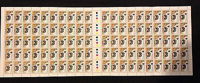 Full Sheet 100 1980 Border Collie 25c Stamps - Very Clean and Tidy Sheet