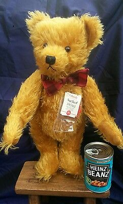 "Hermann Teddy Original "" Papa Fausel "" Ltd Ed 308/1000 Mohair Bear 18 inches"