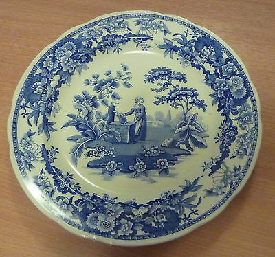 Blue & White Spode Plate Blue Room Collection Girl At The Well 1822 Display